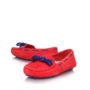 UGG Meena driving moccasins in red suede sz 10
